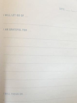 The gratitude journal is full of pages with section headings. Picture: @thekmartmumma