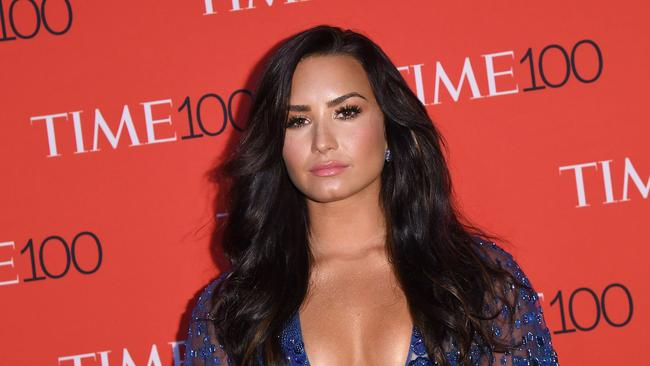 Lovato's latest single gave fans a heartbreaking glimpse into her battles to stay sober. Picture: AFP