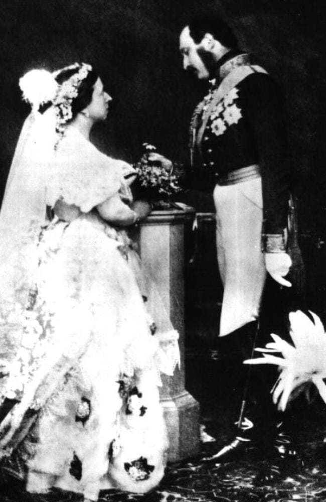 The wedding of Queen Victoria and Prince Albert.
