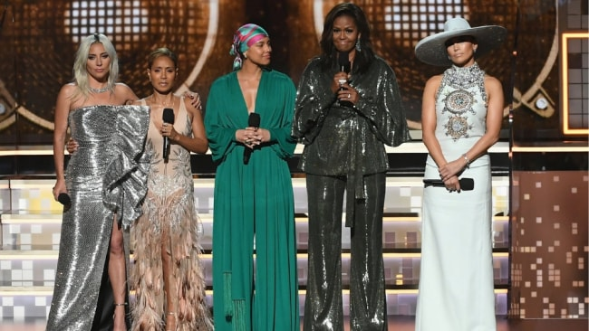 Michelle Obama brought the house down at the 61st Grammy Awards. Image: Getty