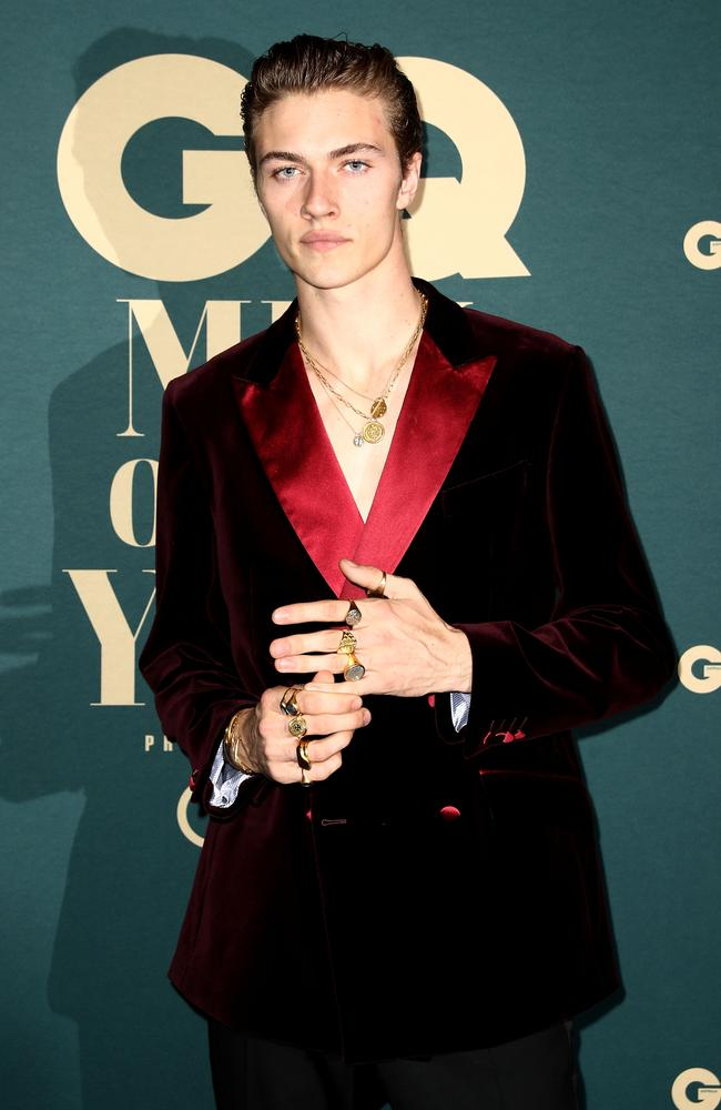 Model Lucky Blue Smith attends the GQ Australia Men of The Year Awards. Picture: Getty