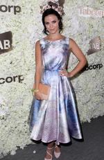 Lauren Brant at the 2016 Melbourne Cup. Picture: Christian Gilles