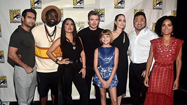 The very stacked cast of Eternals. Picture: Alberto E. Rodriguez/Getty Images for Disney