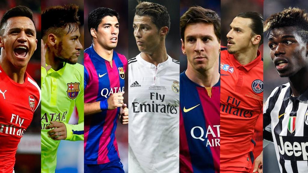 the ten best footballers on the planet are daily telegraph