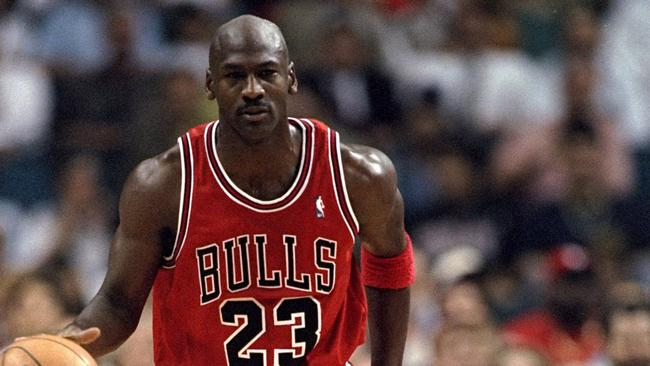 Ex-NBA star Michael Jordan reportedly declined a request to go to North Korea, sending a signed basketball instead. Picture: Andy Lyons /Allsport