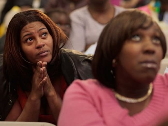 Devastated parents learn their children were not awarded a coveted slot at the Harlem Success Academy.