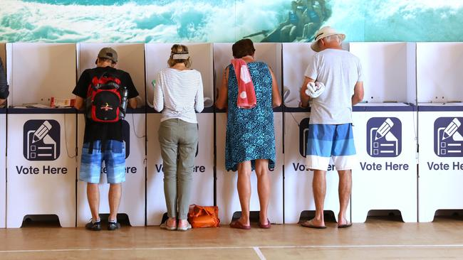 Voters in the NSW state election last month. Picture: Damian Shaw