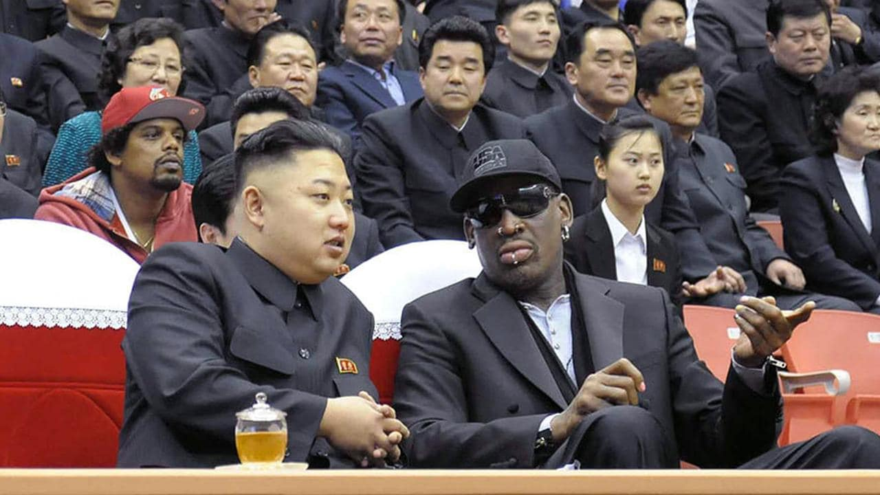 Dennis Rodman says there is one way the world will know if something is wrong with good friend Kim Jong-un. AFP PHOTO / KCNA