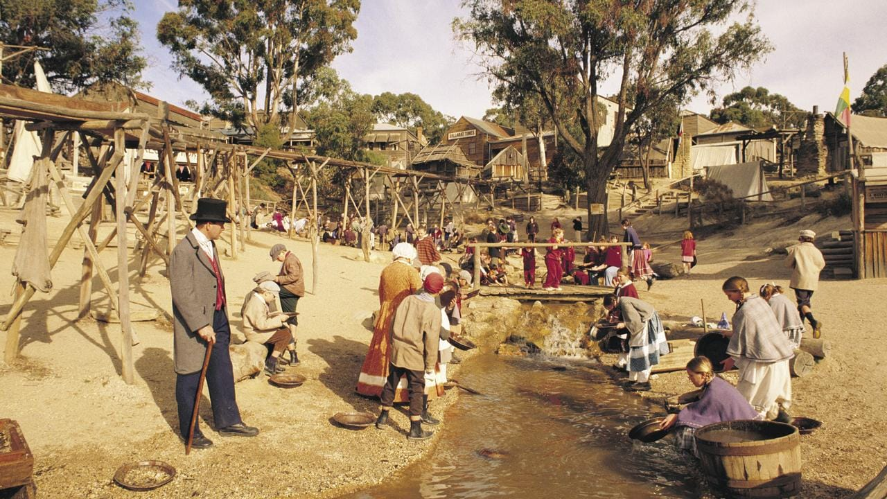 Mining for gold at Sovereign Hill, Victoria. Picture: Tourism Victoria