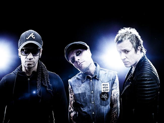 Prodigy (from left). Maxim, Keith Flint, and Liam Howlett. Picture: Supplied