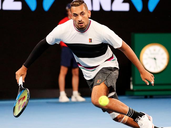 Kyrgios didn't have to do too much running because Raonic's serve was so dominant.