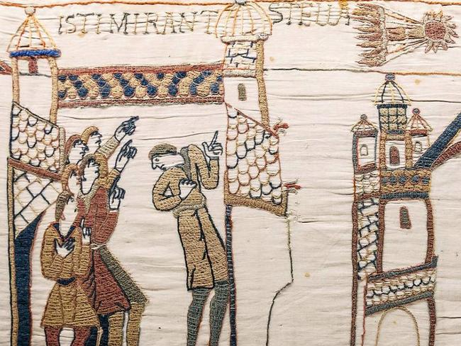 The Bayeux tapestry depicts Halley's comet.