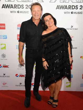 Country music star Troy Cassar-Daley and wife radio presenter wife Laurel Edwards. Picture: AAP