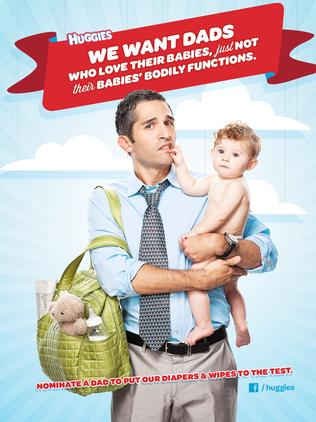 Parents rallied to force Huggies to pull the ads. Picture: Supplied