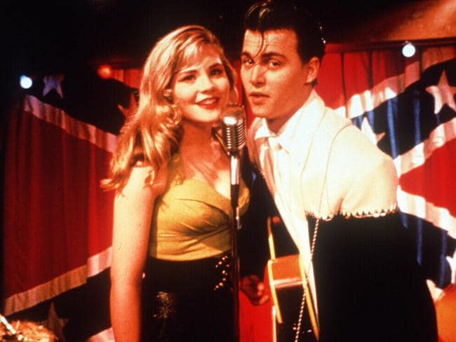 Amy Locane and Johnny Depp in 1990 film Cry Baby. Picture: Supplied