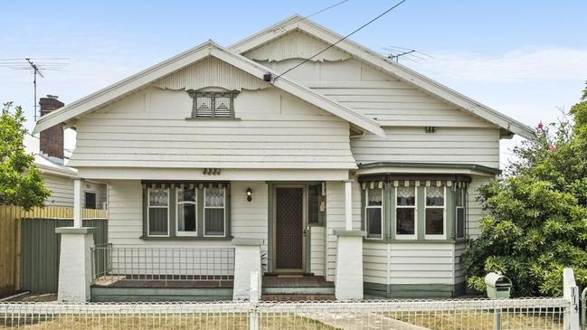 The beaut Geelong West bungalow was a hit with a range of buyers.