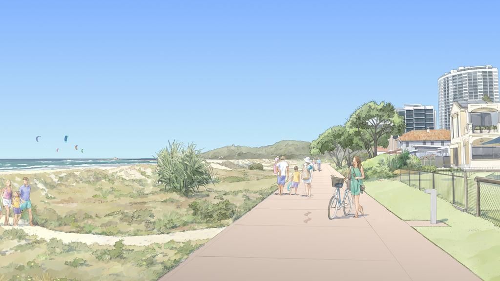The Oceanway as it will appear on the beachfront. Picture: Supplied