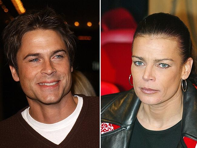 Like a hurricane ... wild child Princess Stephanie dated Rob Lowe during his Brat Pack days.