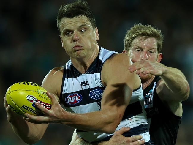 Hamish McIntosh would be a huge inclusion for Geelong. Picture: Simon Cross