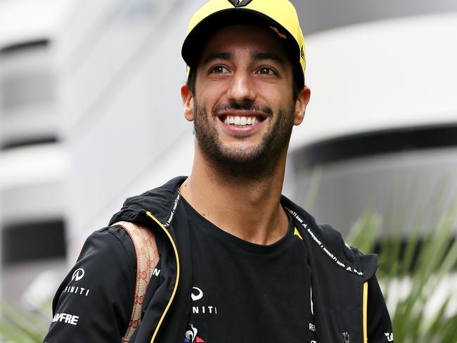 Daniel Ricciardo seems pretty comfortable with it.