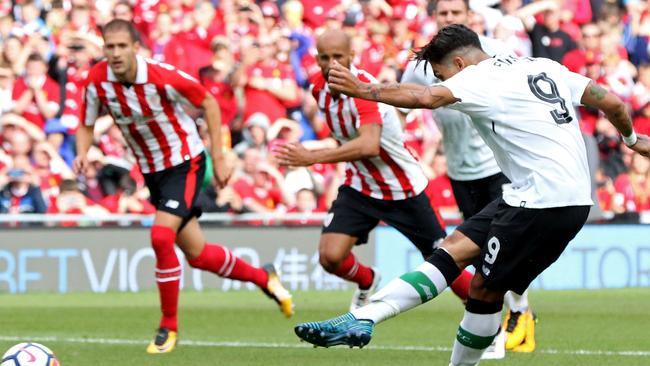 Liverpool's Brazilian midfielder Roberto Firmino.