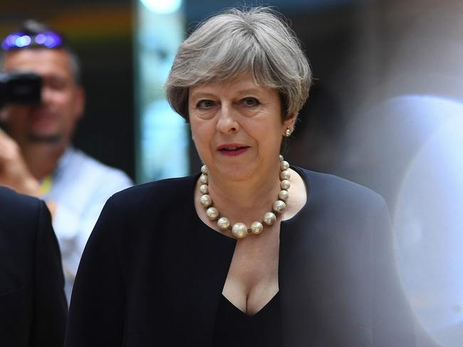 British Prime Minister Theresa May first called for the crackdown after the London Bridge terror attack. Picture: AFP Photo