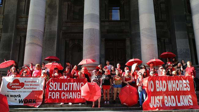 The Scarlet Alliance has been lobbying for laws across Australia to be closer to those of NSW where sex work is completely decriminalised.
