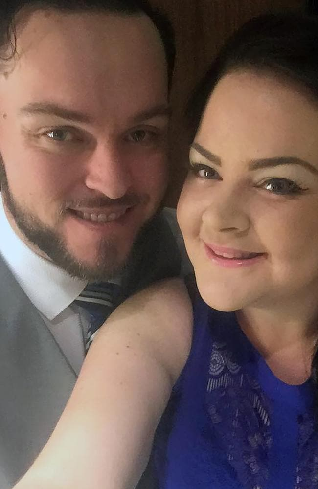 Chantelle and Grant lost 172kg between them in a year, and have swapped junk for juices and smoothies. Picture: Caters News