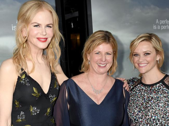 Nicole Kidman, Liane Moriarty and Reese Witherspoon. Picture: Supplied/Foxtel.