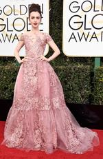 Lily Collins attends the 74th Annual Golden Globe Awards at The Beverly Hilton Hotel on January 8, 2017 in Beverly Hills, California. Picture: Getty