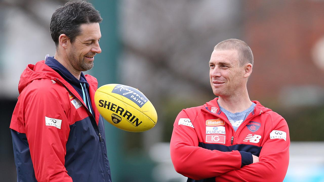 Besieged Melbourne revamps Simon Goodwin's coaching team in the mid-season break
