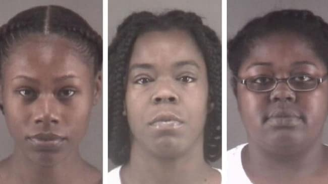 Mugshots for Tonacia Yvonne Tyson, 20, Marilyn Latish McKey, 32, and Taneshia Deshawn Jordan, 26. Picture: Winston-Salem Police Department