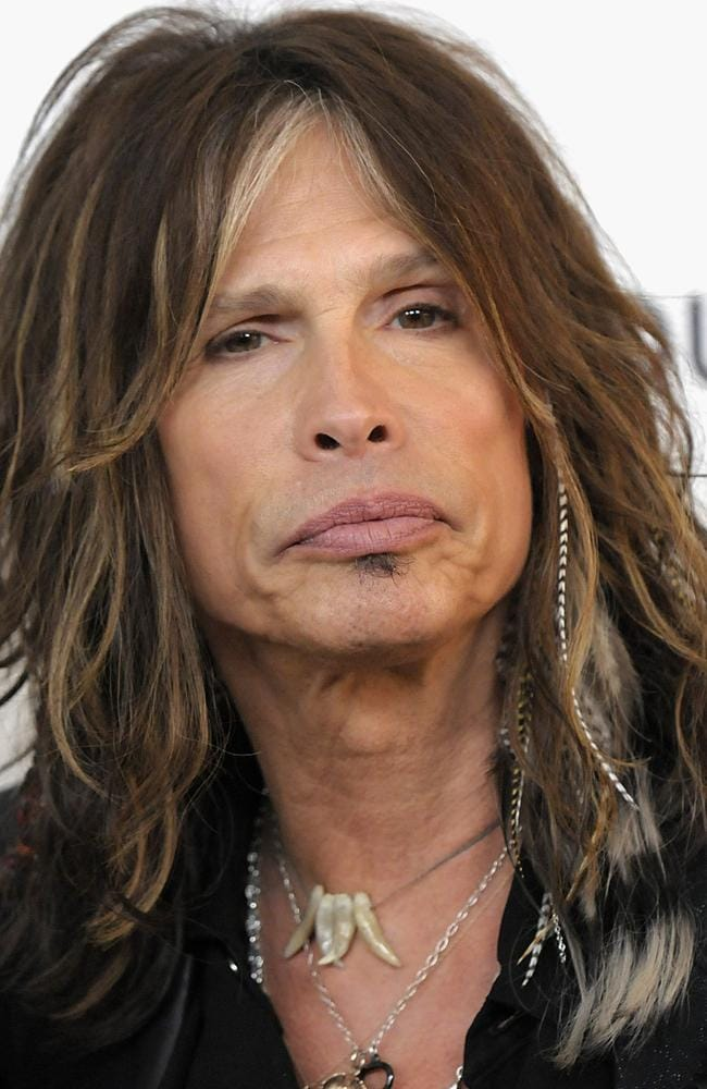 Singer Steven Tyler, champion of the feather extension trend. Picture: AP Photo/Dan Steinberg