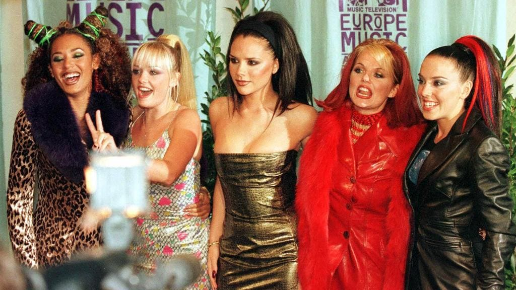 The British super group at the MTV Awards in 1997. Picture: Ed Oudenaarden/ANP/AFP