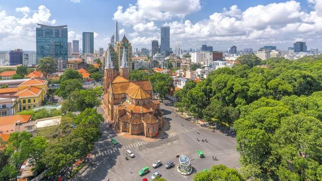 Ho Chi Minh City, Vietnam is another popular destination. Picture: istock