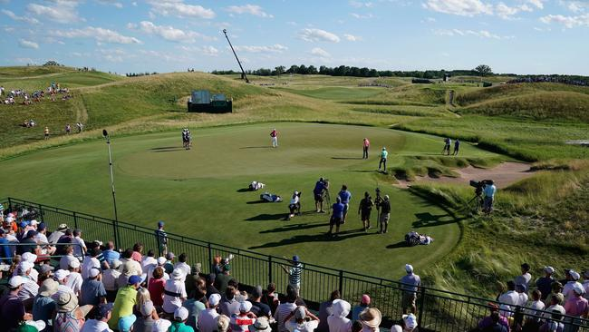 The 13th hole at Erin Hills.