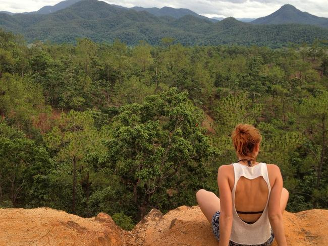 Soaking up scenery in Pai, Thailand.