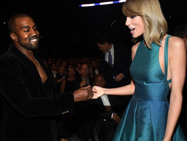 New audio of a phone call between Kanye West and Taylor Swift proves that Swift did not agree to the lyrics West wrote about her for Famous. Picture: Larry Busacca/Getty Images for NARAS