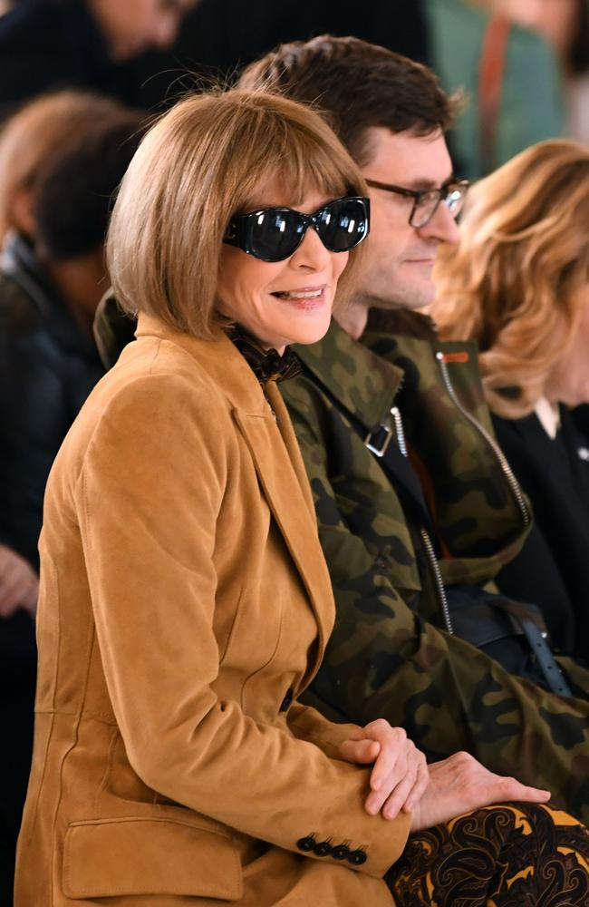 Vogue chief editor Anna Wintour at Victoria Beckham's runway show in London. Picture: AFP