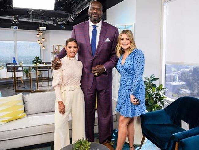 Shaq was shooting his shot on E News.
