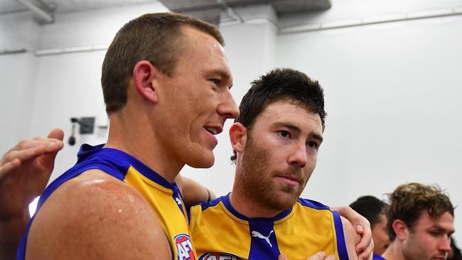 Drew Petrie and Jeremy McGovern. (Photo by Daniel Kalisz/Getty Images)