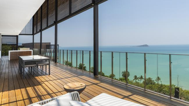 The view of the Coral Sea from the new Hayman Island home which has hit the market.