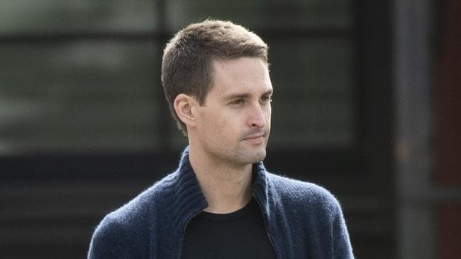 Evan Spiegel, chief executive officer of Snap Inc. Picture: Drew Angerer/Getty Images/AFP