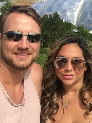 Ms Shaw travelled with her partner (pictured). Picture: Facebook