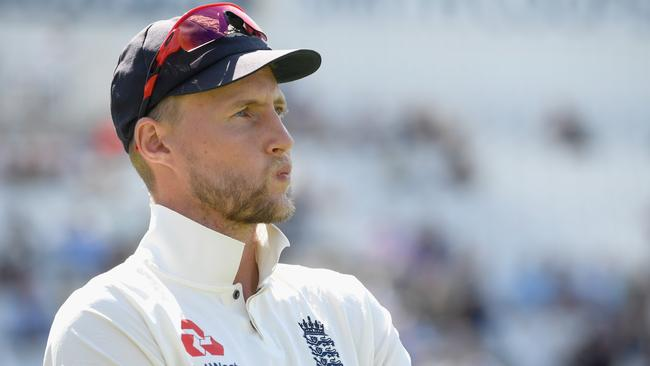 England captain Joe Root looks on after day four of the second Test.