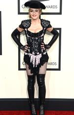 You would think this view of Madonna's 2015 Grammys outfit would be the worst angle... Picture: Jason Merritt/Getty Images