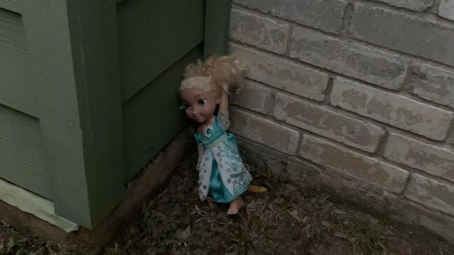 The family is convinced that this Elsa doll is haunted.