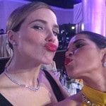"""America Ferrera ... """"Making out with another #NBCsister @sophiabush #presenterlove @goldenglobes"""" Picture: Instagram"""