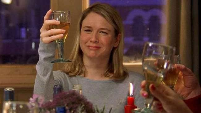 Cheers to Bridget. Photo: 'Bridget Jones Diary'