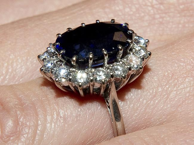 Prince William gave this ring to Kate for their engagement back in 2010, now always on her hand. Picture: Arthur Edwards/Getty Images